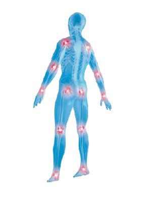 Schmerzstellen der Gelenke am Körper