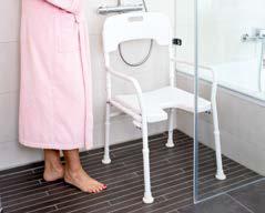 Aluminium-Duschstuhl             mit Armlehnen und Rückenlehne